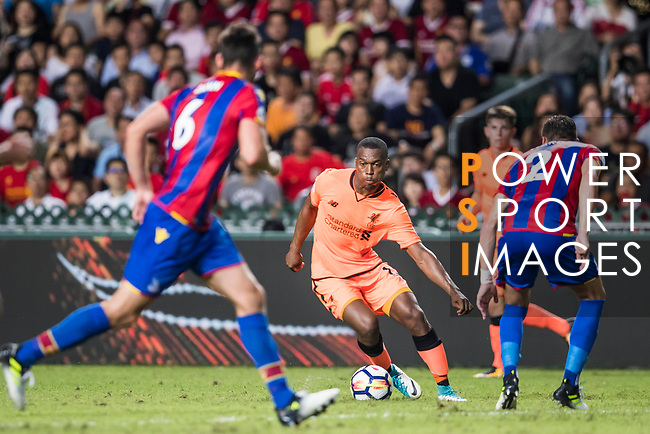 Liverpool FC forward Daniel Sturridge (C) in action during the Premier League Asia Trophy match between Liverpool FC and Crystal Palace FC at Hong Kong Stadium on 19 July 2017, in Hong Kong, China. Photo by Yu Chun Christopher Wong / Power Sport Images