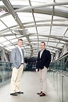 SmartSheet.com CEO Mark Mader and Chief Marketing Officer Brent Frei photos & portraits