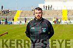 Referee Donnacha O'Callaghan before the Kerry County Senior Hurling Championship Final match between Kilmoyley and Causeway at Austin Stack Park in Tralee