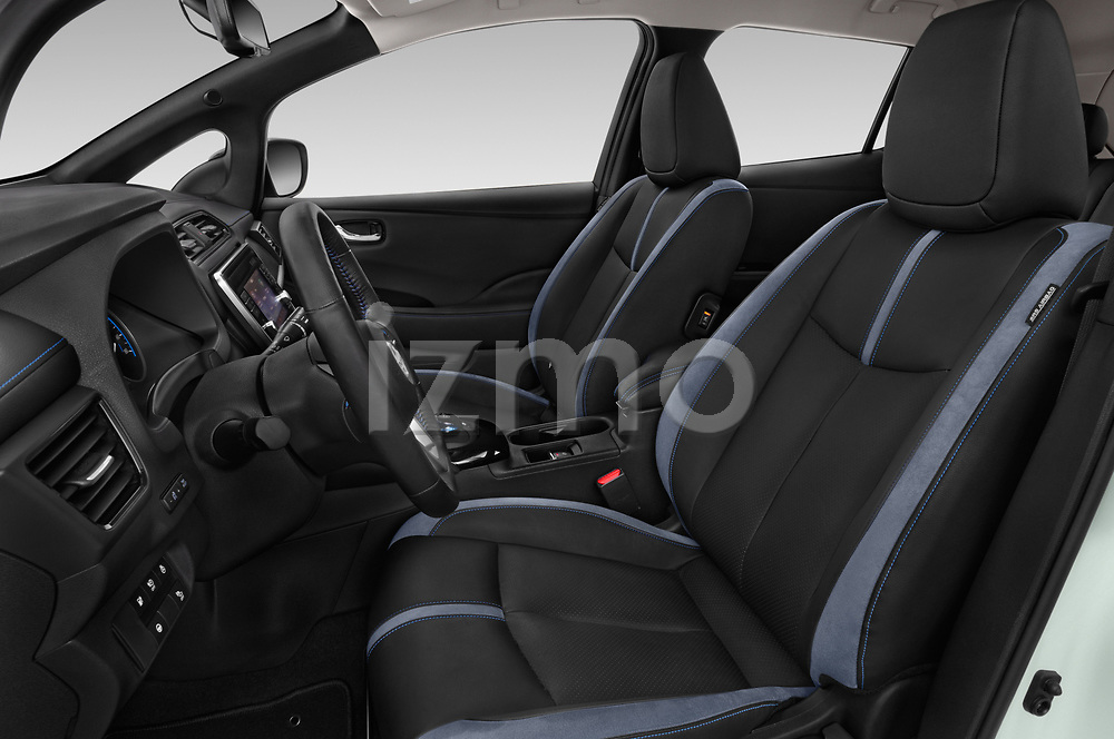 Front seat view of a 2018 Nissan Leaf Tekna 5 Door Hatchback front seat car photos