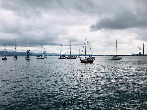 Poolbeg Yacht & Boat Club's 2021 Blessing of the Boats flotilla at the mouth of the Liffey