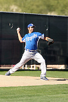 Henry Barrera of the Kansas City Royals  participates in spring training workouts at the Royals complex on March 26, 2011  in Surprise, Arizona. .Photo by:  Bill Mitchell/Four Seam Images.