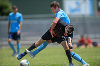 Action from the 2019 National Age Group Tournament Under-16 Boys football match between Northern and WaiBoP at Memorial Park in Petone, Wellington, New Zealand on Friday, 13 December 2019. Photo: Dave Lintott / lintottphoto.co.nz