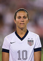 Carli Lloyd. The USWNT defeated Mexico, 7-0, during an international friendly at RFK Stadium in Washington, DC.  The USWNT defeated Mexico, 7-0.