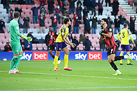 Dominic Solanke of AFC Bournemouth celebrates after scoring his second goal during AFC Bournemouth vs Huddersfield Town, Sky Bet EFL Championship Football at the Vitality Stadium on 12th December 2020