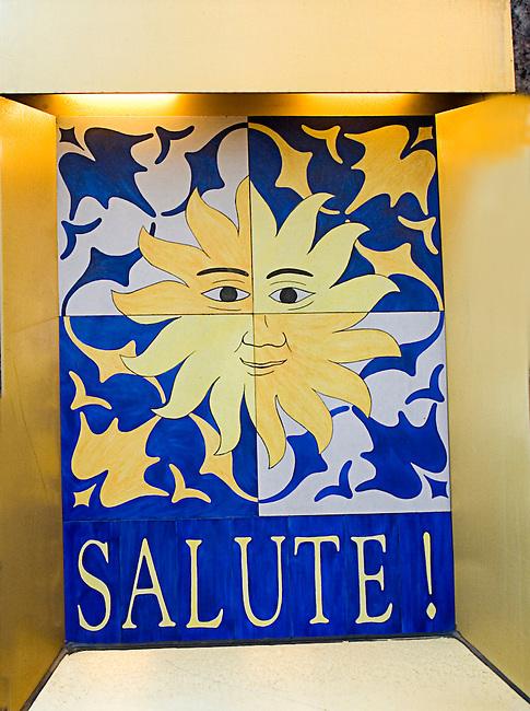 Salute Restaurant Sign, Italian Restaurant, New York, New York