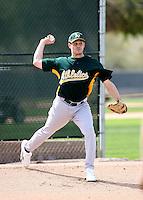 Chris Schroder - Oakland Athletics - 2009 spring training.Photo by:  Bill Mitchell/Four Seam Images