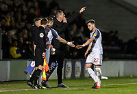 Bolton Wanderers' Dennis Politic (right) is replaced by Anthony Georgiou  <br /> <br /> Photographer Andrew Kearns/CameraSport<br /> <br /> The Premier League - Leicester City v Aston Villa - Monday 9th March 2020 - King Power Stadium - Leicester<br /> <br /> World Copyright © 2020 CameraSport. All rights reserved. 43 Linden Ave. Countesthorpe. Leicester. England. LE8 5PG - Tel: +44 (0) 116 277 4147 - admin@camerasport.com - www.camerasport.com