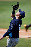 Charlotte Stone Crabs first baseman Brendan McKay (31) catches a popup during a game against the Bradenton Marauders on June 3, 2018 at LECOM Park in Bradenton, Florida.  Charlotte defeated Bradenton 10-1.  (Mike Janes/Four Seam Images)