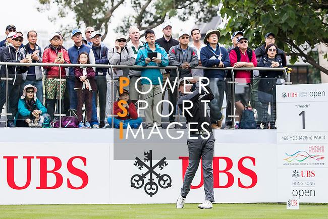 Alexander Bjork of Sweden tees off during the day three of UBS Hong Kong Open 2017 at the Hong Kong Golf Club on 25 November 2017, in Hong Kong, Hong Kong. Photo by Yu Chun Christopher Wong / Power Sport Images