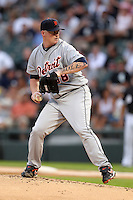 Detroit TIgers starting pitcher Jeremy Bonderman (38) during a game vs. the Chicago White Sox at U.S. Cellular Field in Chicago, Illinois August 13, 2010.   Chicago defeated Detroit 8-4.  Photo By Mike Janes/Four Seam Images