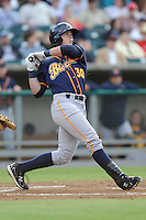 Montgomery Biscuits Matt Sweeney #30 swings at a pitch during a game against  the Tennessee Smokies at Smokies Park in Kodak,  Tennessee;  April 13, 2011.  Tennessee defeated Montgomery 12-2.  Photo By Tony Farlow/Four Seam Images