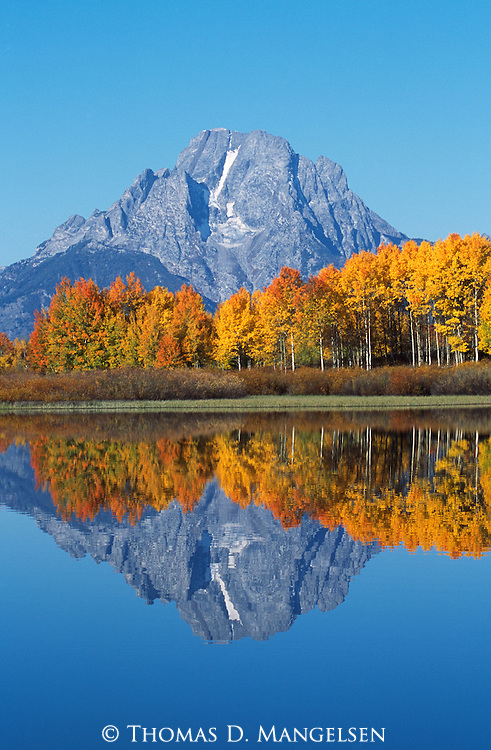 Mount Moran at Oxbow Bend in Grand Teton National Park, Wyoming.
