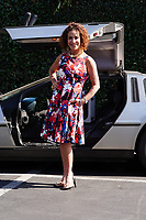 Claudia Wells Arrives In Her Delorean to Shopping Center In Hollywood