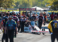 Sep 23, 2018; Madison, IL, USA; Crew members for NHRA top fuel driver Steve Torrence during the Midwest Nationals at Gateway Motorsports Park. Mandatory Credit: Mark J. Rebilas-USA TODAY Sports
