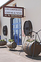 Cave Cooperative H de Richemer. Marseillan. Languedoc. France. Europe.