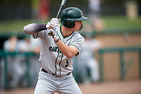 Dartmouth Big Green pinch hitter Nate Ostmo (5) at bat during a game against the USF Bulls on March 17, 2019 at USF Baseball Stadium in Tampa, Florida.  USF defeated Dartmouth 4-1.  (Mike Janes/Four Seam Images)
