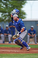 Los Angeles Dodgers Paul Hoenecke (96) during an instructional league game against the Cleveland Indians on October 15, 2015 at the Goodyear Ballpark Complex in Goodyear, Arizona.  (Mike Janes/Four Seam Images)
