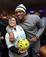 Pictured: Leroy Fer Tuesday 06 December 2016<br /> Re: Swansea City FC Christmas Party at the Liberty Stadium, Wales, UK