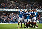 Rangers players celebrate goal no 4