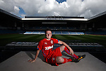 SUNDAY PIC: Calum Gallagher at Ibrox for the third kit launch