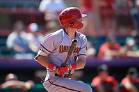 Harrisburg Senators Ian Sagdal (1) at bat during an Eastern League game against the Erie SeaWolves on June 30, 2019 at UPMC Park in Erie, Pennsylvania.  Erie defeated Harrisburg 4-2.  (Mike Janes/Four Seam Images)