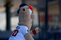 Atlanta Braves mascot Blooper (00) during a Major League Spring Training game against the Boston Red Sox on March 7, 2021 at CoolToday Park in North Port, Florida.  (Mike Janes/Four Seam Images)
