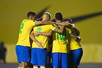 13th November 2020; Morumbi Stadium, Sao Paulo, Sao Paulo, Brazil; World Cup 2022 qualifiers; Brazil versus Venezuela;  Players of Brazil celebrate their goal from Roberto Firmino in the 67th minute 1-0