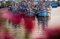 Boats on the water in central Pattani.