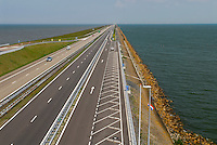 HOLLAND NETHERLAND North sea, dyke with highway / Niederlande Nordsee, Deich mit Autobahn