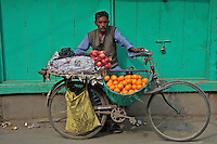 Fruit vendor Durbar Square and old Town Area