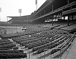 Pittsburgh PA:  View of Forbes Field from behind the home plate.  Assignment for the Kaufmann and Faby Company for a view of the seats installed at Forbes Field by Chicago's American Seating Company