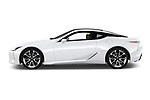 Car driver side profile view of a 2018 Lexus LC 500 Sport Plus 2 Door Coupe