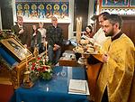 Vespers service to begin the slava of St. Sebastian of Jackson, St. Sava Serbian Orthodox Church, California.