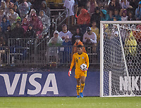EAST HARTFORD, CT - JULY 1: Adrianna Franch #18 of the USWNT holds the ball during a game between Mexico and USWNT at Rentschler Field on July 1, 2021 in East Hartford, Connecticut.