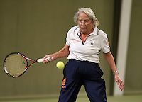 March 5, 2015, Netherlands, Hilversum, Tulip Tennis Center, NOVK, Final Lady's 80+ , runner up  Wies Schuitemaker (NED)<br /> Photo: Tennisimages/Henk Koster