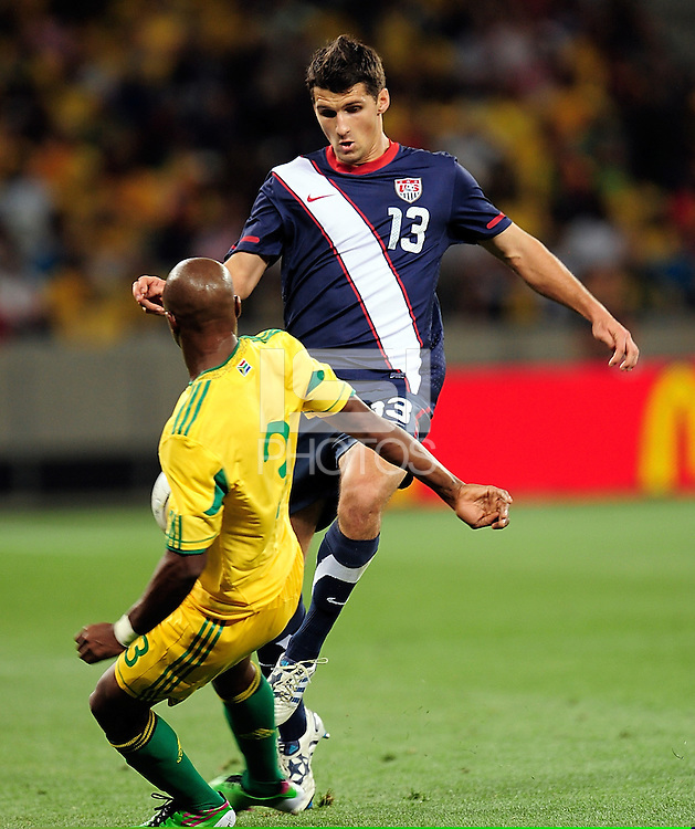 13 Eric Lichaj of the USA during the  Soccer match between South Africa and USA played at the Greenpoint in Cape Town South Africa on 17 November 2010.