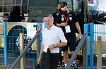 St Johnstone v Lask…26.08.21  McDiarmid Park    Europa Conference League Qualifier<br />Lask Manager Dominik Thalhammer arrives ahead of tonight's game<br />Picture by Graeme Hart.<br />Copyright Perthshire Picture Agency<br />Tel: 01738 623350  Mobile: 07990 594431