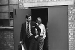 John Gouriet founder of the rightwing National Association for Freedom. He put together 'Operation Pony Express', which broke the post office embargo on the movement of film in and out of the film processing company. Grunwick. Strike North London UK. 1977