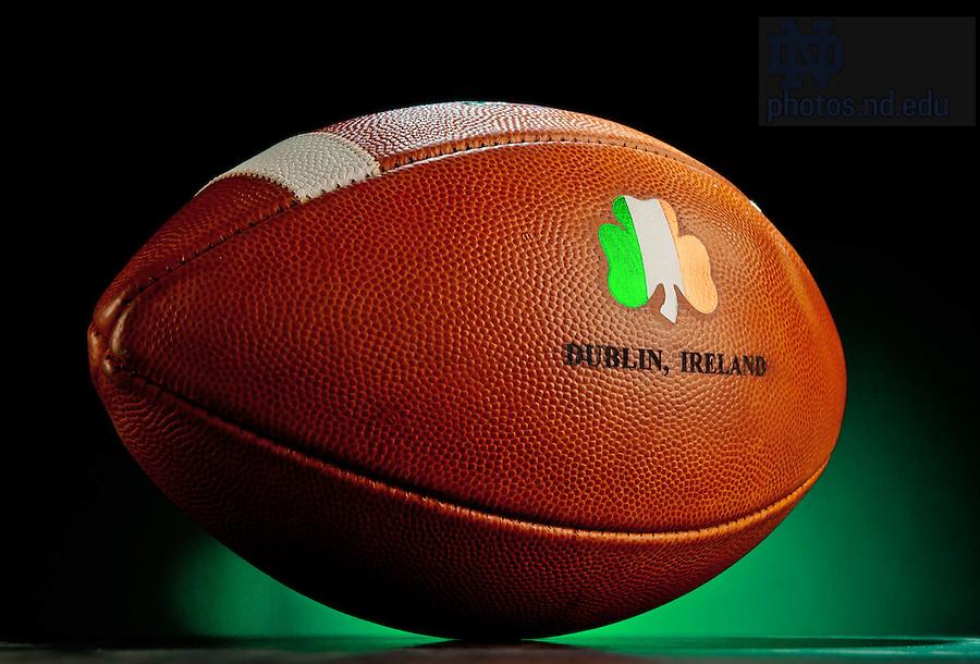Aug. 9, 2012; Game ball for Notre Dame vs Navy in Dublin, Ireland...Photo by Matt Cashore/University of Notre Dame