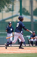 I7-25-2009: saiah Brown of the Gulf Coast League Yankess during the game in Orlando, Florida. The GCL Yankees are the Rookie League affiliate of the New York Yankees. Photo By Scott Jontes/Four Seam Images