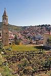 View of Havar Town, overlooking a family garden, Hvar Island, Croatia