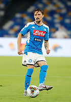 Mario Rui of Napoli  during the  italian serie a soccer match,  SSC Napoli - AC Milan       at  the San  Paolo   stadium in Naples  Italy , July 12, 2020