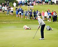 2nd July 2021; Mount Juliet Golf Club, Kilkenny, Ireland; Dubai Duty Free Irish Open Golf, Day Two; John Catlin of the USA putts on the 12th green