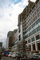 London:  Broadgate Development, looking south on Bishopsgate.  Photo '90.