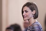 "Queen Letizia of Spain during the ""TOMAS FRANCISCO PRIETO 2014 Award"" at Zarzuela Palace in Madrid, Spain. April 30, 2015. (ALTERPHOTOS/Victor Blanco)"