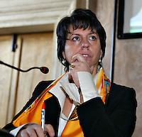 Roma 3/2/2004<br /> Conferenza per la presentazione dell'Associazione per la televisione digitale terrestre in Italia.<br /> Nella Foto Gina Nieri, consigliere di amministrazione di Mediaset<br /> Foto Andrea Staccioli Insidefoto