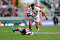 Marcus Watson of England in action during the iRB Marriott London Sevens at Twickenham on Saturday 11th May 2013 (Photo by Rob Munro)