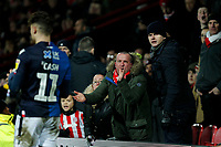 Brentford fans try to hurry up Matty Cash of Nottingham Forest during the Sky Bet Championship match between Brentford and Nottingham Forest at Griffin Park, London, England on 28 January 2020. Photo by Carlton Myrie.