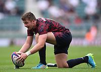 4th July 2021; Twickenham, London, England; International Rugby, Autumn Internationals, England versus United States of America; Luke Carty of USA lines up a conversion kick